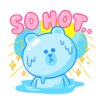 LINE Characters: Cute and Soft Summer Stickers 1