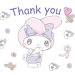 Larme My Melody Stickers x 1