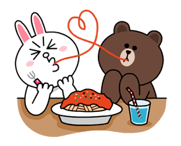 Brown & Cony's Thrilling Date Stickers 1
