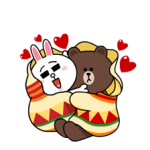 Brown & Cony's Snug Winter Date Stickers 1