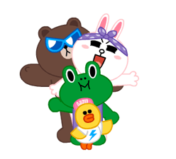 LINE Characters: Party Time Stickers 1