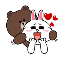 Brown & Cony's Lonely Hearts Date Stickers 10