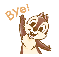Chip 'n' Dale Fluffy Di chuyển Stickers 10