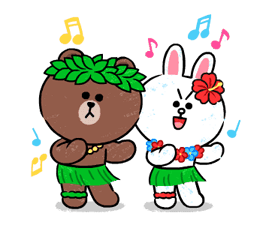 Brown & Cony in Love Stickere 10