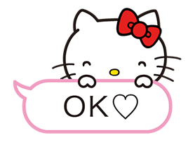 Hello Kitty menerkam Stiker 10