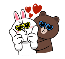 Brown & Cony's Thrilling Date Stickers