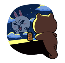 Brown & Cony's Lonely Hearts Date Stickers 11