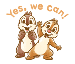 Chip 'n' Dale Fluffy Di chuyển Stickers 11