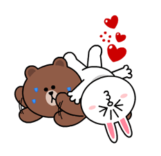 Brown & Cony's Heaps of Hearts! Stickers 11
