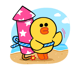 LINE Characters: Cute and Soft Summer Stickers 11