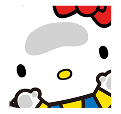 Hello Kitty Pouncing Çıkartma 11