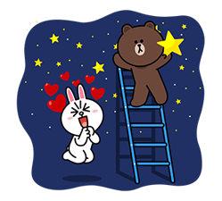 Brown & Cony ini Big Love Stiker 11