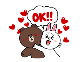 Brown & Cony's Lonely Hearts Date Stickers 12