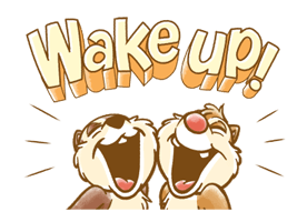 Chip 'n' Dale Fluffy Di chuyển Stickers 12