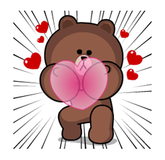 Brown & Cony's Heaps of Hearts! Stickers 12