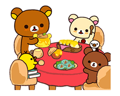Rilakkuma: Chairoikoguma Stickers 12
