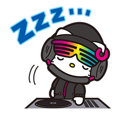 DJ Hello Kitty Stickers 12