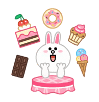 LINE Characters: Pastel Cuties Stickers 12