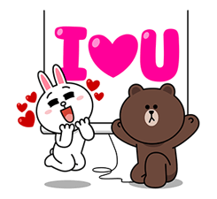 Brown & Cony ini Big Love Stiker 12
