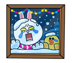 Brown & Cony's Snug Winter Date Stickers 12