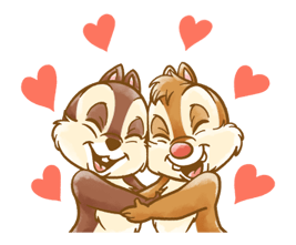 Chip 'n' Dale Fluffy Di chuyển Stickers 13