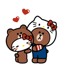 LINE FRIENDS & HELLO KITTY 13