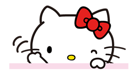 Hello Kitty Pouncing Çıkartma 13