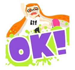 Splatoon: Inkling Injection Stickers 13