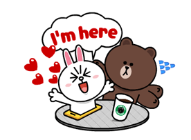 Brown & Cony a Lonely Hearts dátuma matricák 14