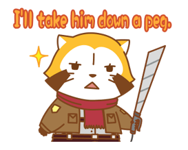 Rascal × Attack on Titan Stickers 14