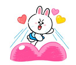 Brown & Cony in Love Stickere 14