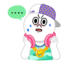 LINE Characters: Party Time Stickers 6