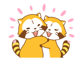 Rascal and Lily: Raccoons in Love Stickers