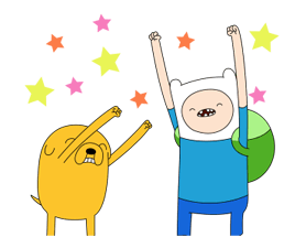 Moving Adventure Time 2 Stickers 15