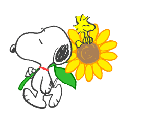 Sweet Summer Snoopy Stickers