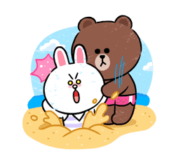 Brown & Cony in Love Stickere 15