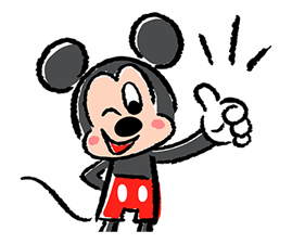 Lovely Mickey dan Minnie pelekat 15