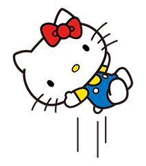 Hello Kitty Pouncing Çıkartma 15