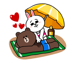 LINE Characters - Happy Vacations Stickers 15