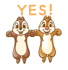 Chip 'n' Dale Fluffy Di chuyển Stickers 16