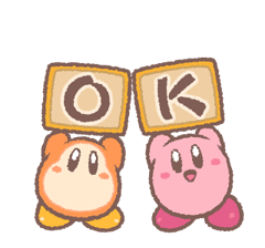 Kirby's Puffball Sticker Set 16