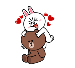 Brown & Cony's Heaps of Hearts! Stickers 16