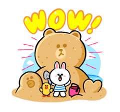 LINE Characters: Cute and Soft Summer Stickers 16