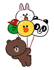 LINE Characters Fun Size Pack Stickers 16