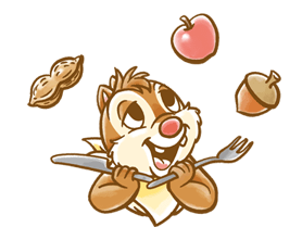 Chip 'n' Dale Fluffy Di chuyển Stickers 17