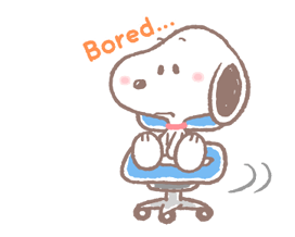 Lovely Snoopy at Work Stickers 17