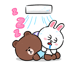 Brown & Cony in Love Stickere 17