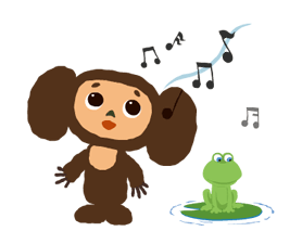 Cheburashka Stickers 16