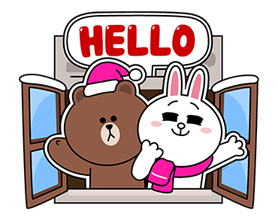 Brown Cony Greeting 17
