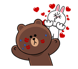 Brown & Cony's Heaps of Hearts! Stickers 18